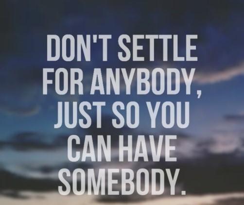 dont settle